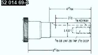 Kohler Crankshaft - Part No. 52 014 69-S