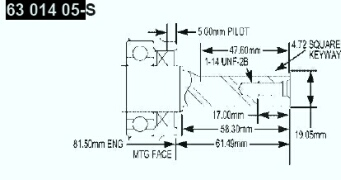 Kohler Crankshaft - Part No. 63 014 05-S