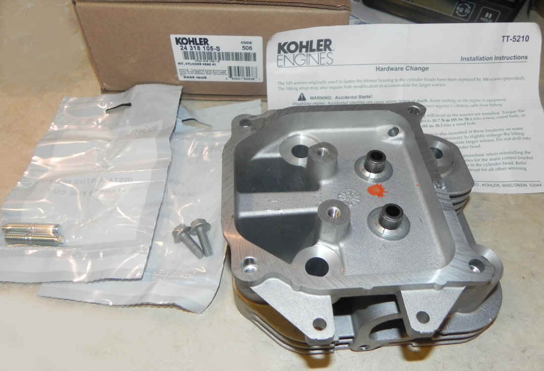 Kohler Cylinder Head - Part No. 24 318 194-S