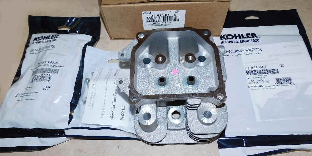 Kohler Cylinder Head - Part No. 24 818 01-S