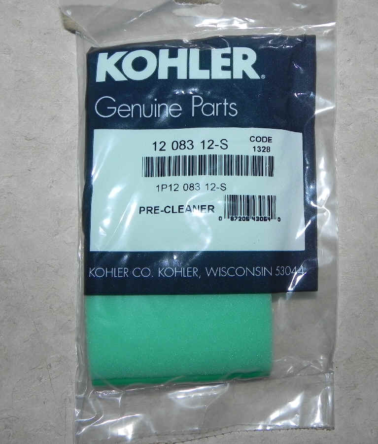 Kohler Air Filter Part No 12 083 12-S