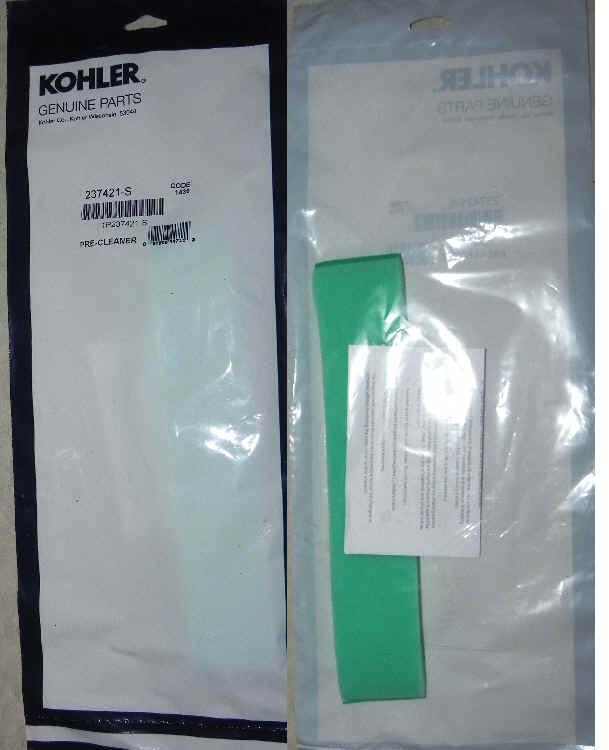 Kohler Air Filter Part No 237421-S