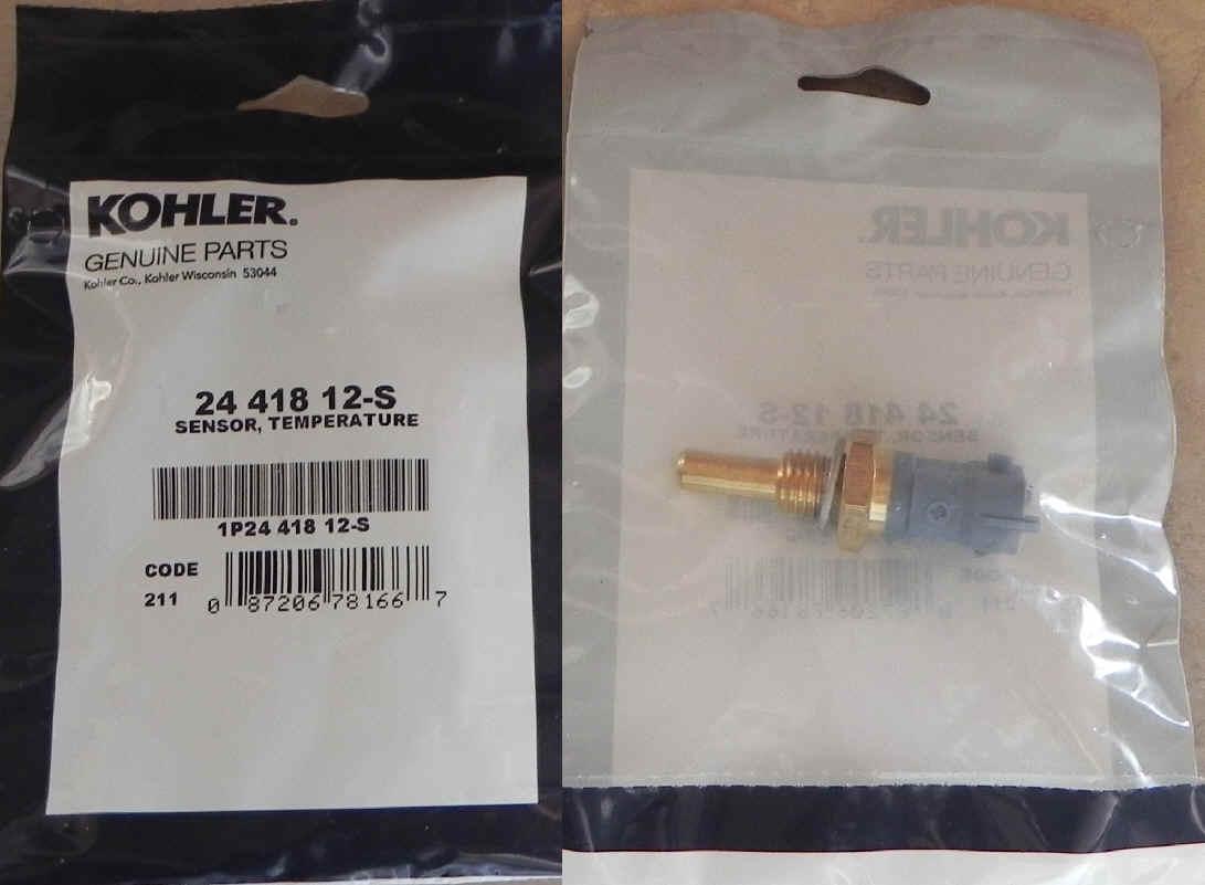 TEMPERATURE Part # 24 418 12-S Genuine Kohler SENSOR