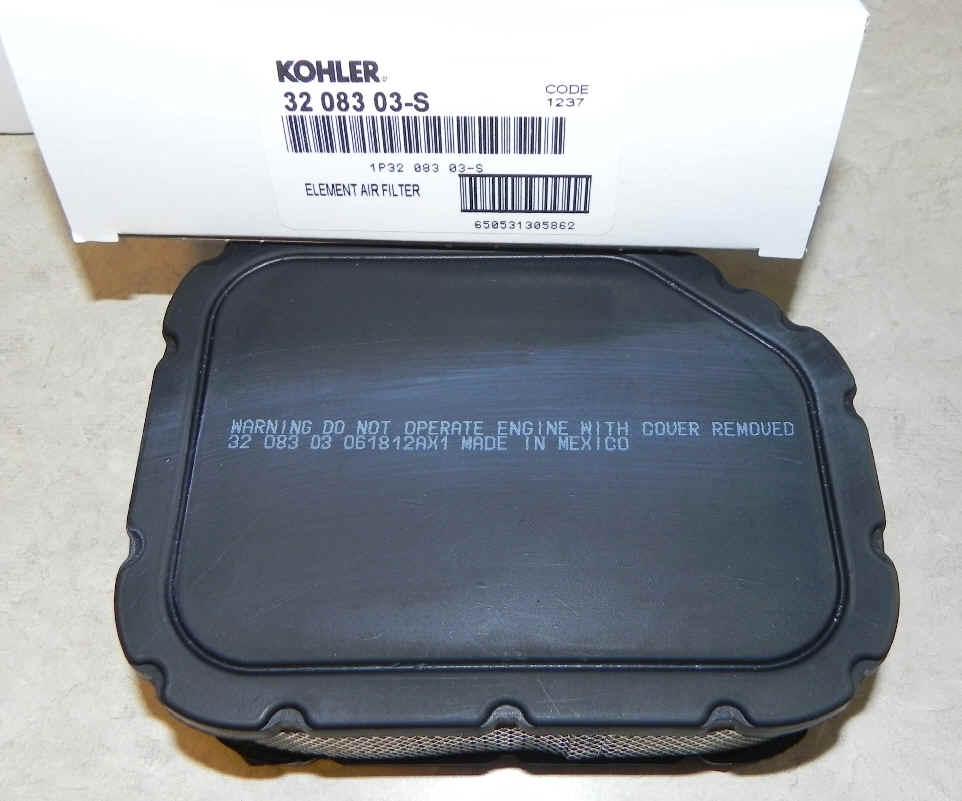 Kohler Air Filter Part No 32 083 03-S