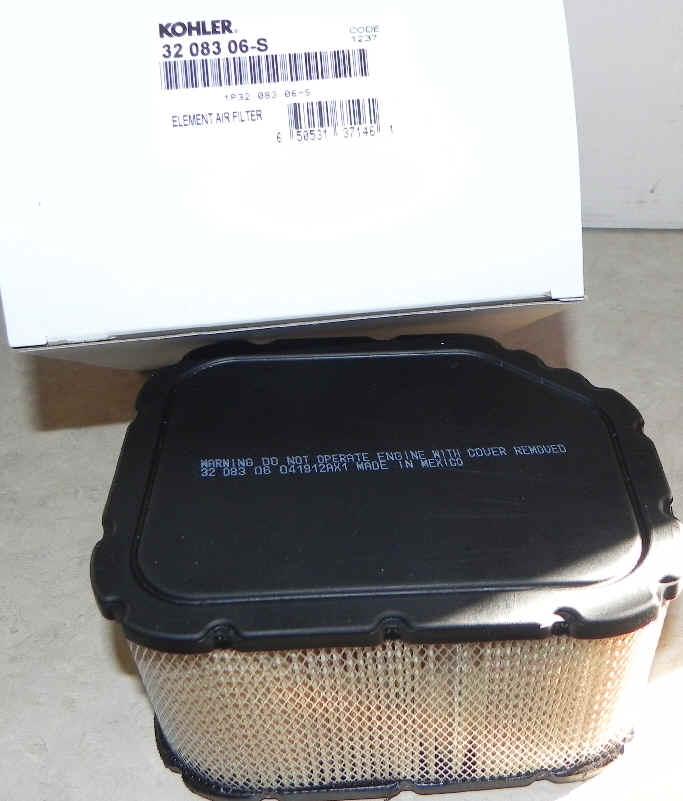Kohler Air Filter Part No 32 083 06-S