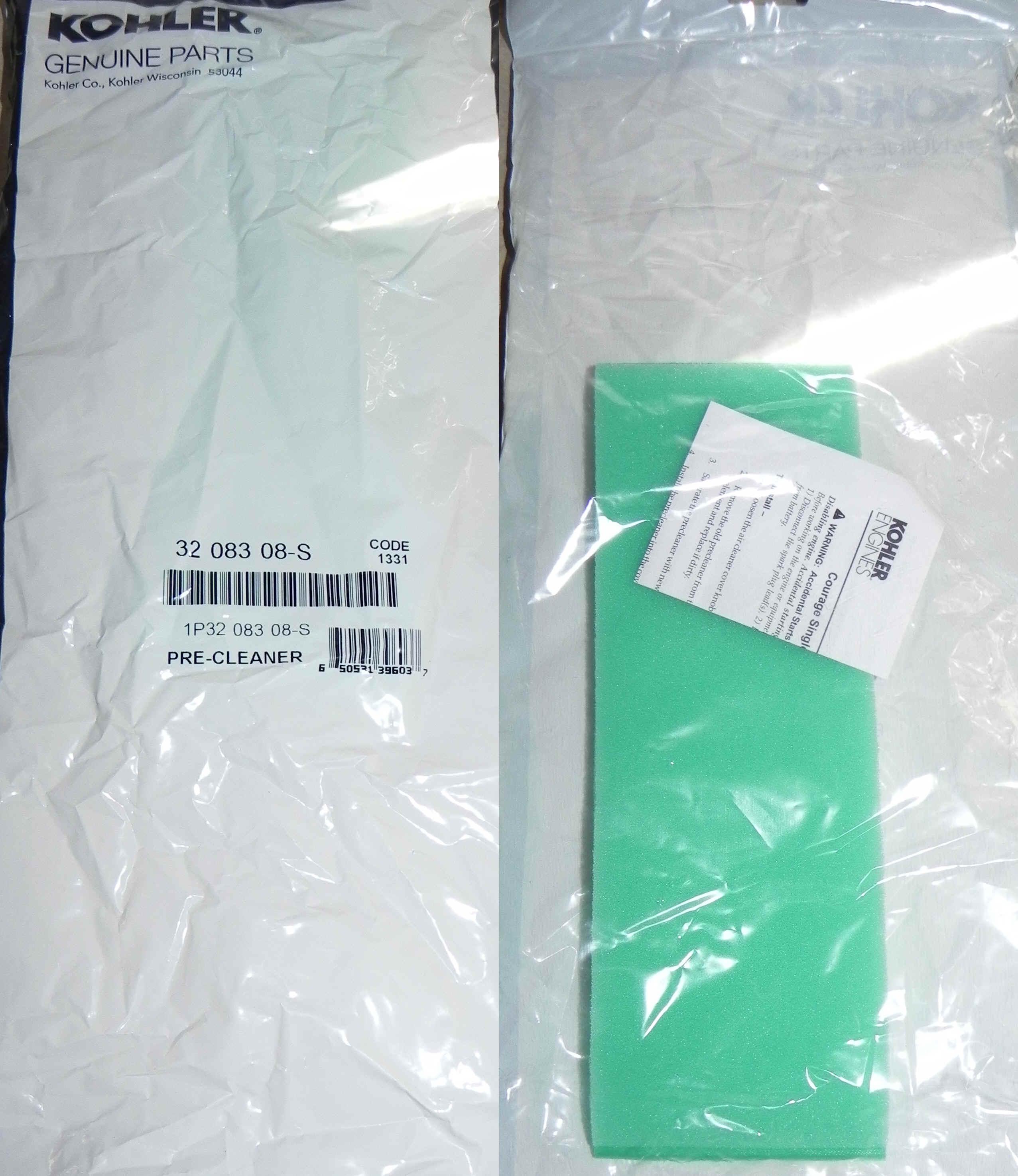 Kohler Air Filter Part No 32 083 08-S