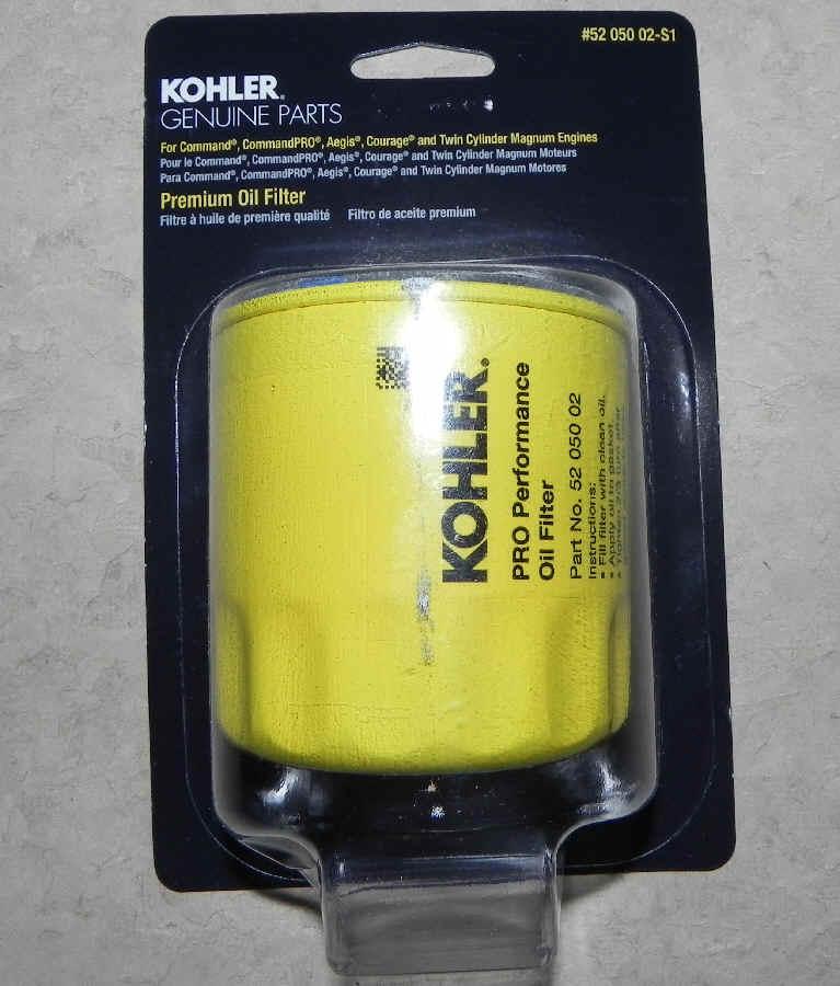 Kohler Oil Filter Part No 52 050 02-S1