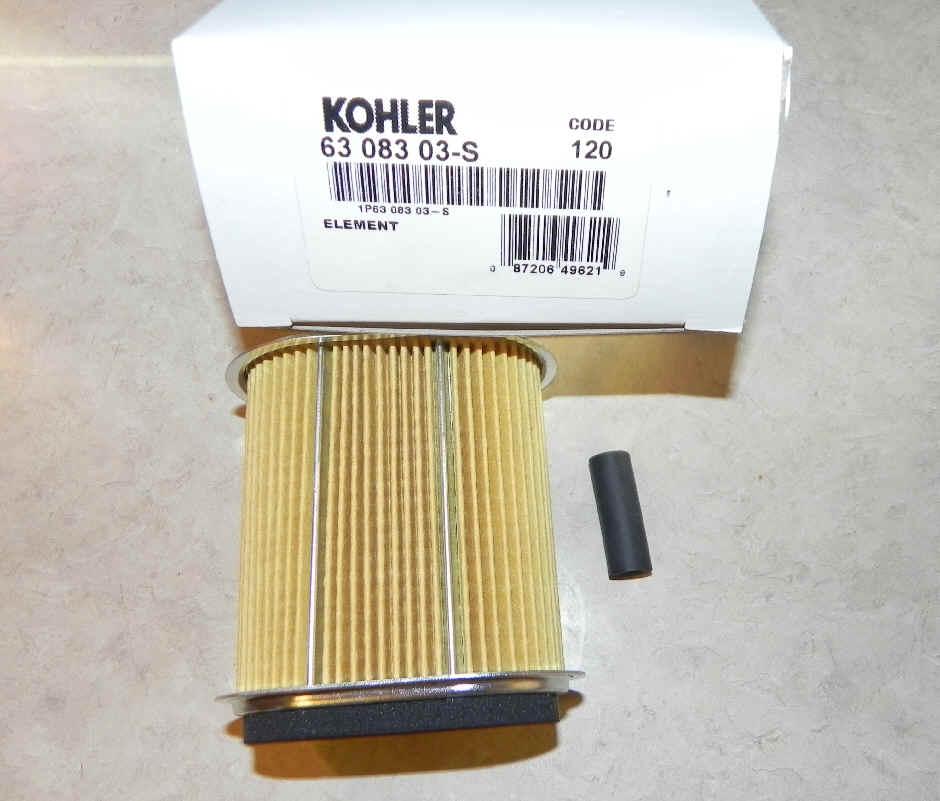 Kohler Air Filter Part No 63 083 03-S