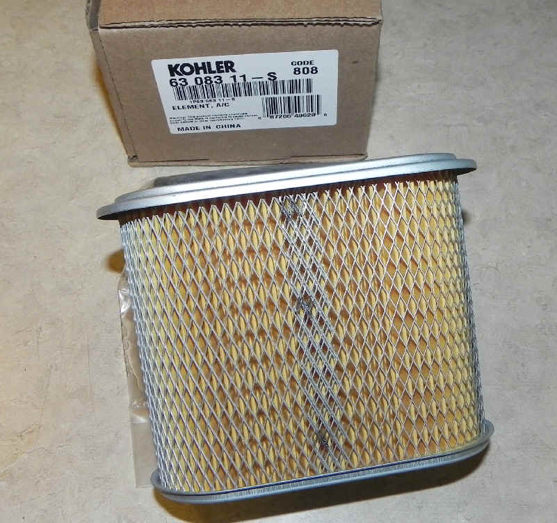 Kohler Air Filter Part No 63 083 11-S