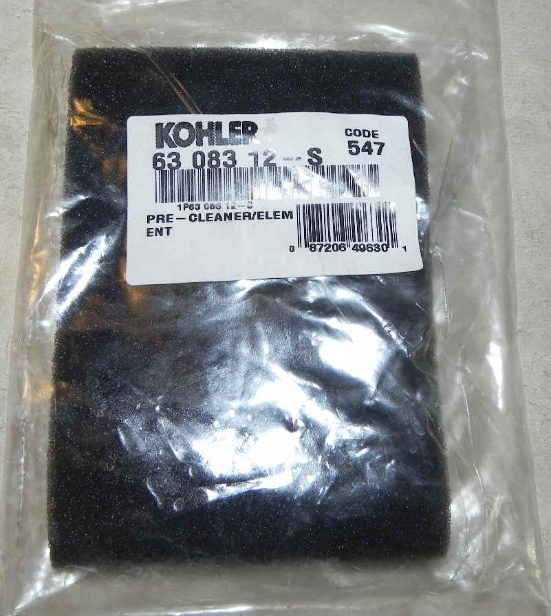 Kohler Air Filter Part No 63 083 12-S