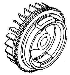 Kohler Flywheel - Part No. 63 025 01-S