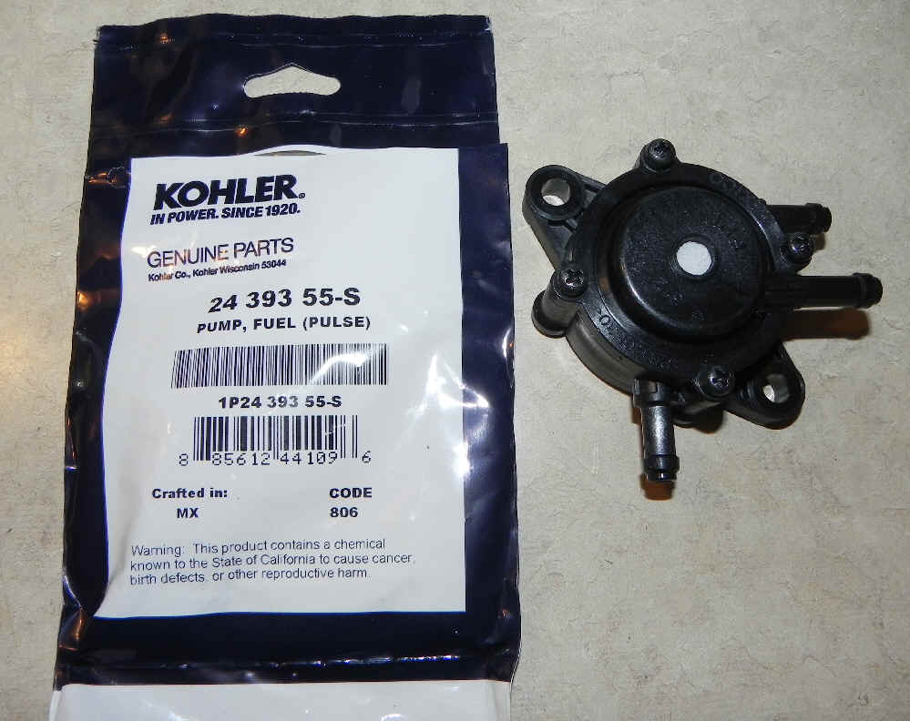 Kohler Fuel Pump - Part No. 25 393 26-S