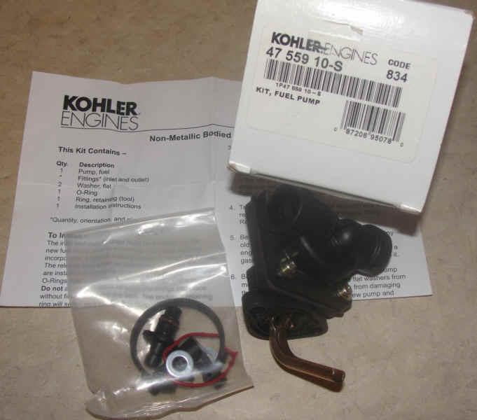 Kohler Fuel Pump - Part No. 47 559 10-S
