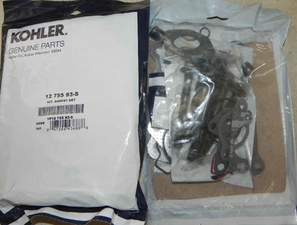 Kohler Gasket Set - Part No. 12 755 93-S