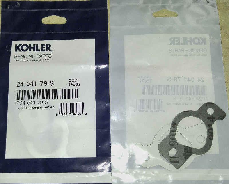 Kohler Intake Gasket Part No 24 041 79-S