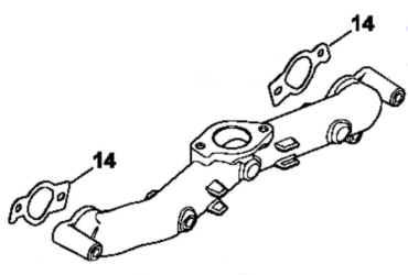 Kohler Intake Manifold Part Number 24 164 34-S and gaskets