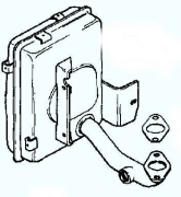 Kohler Muffler - Part No. 12 068 21-S
