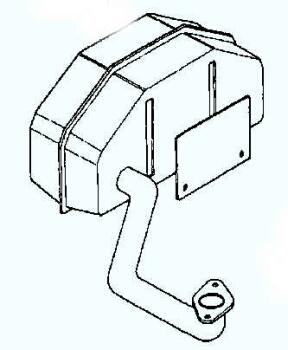 Kohler Muffler - Part No. 12 068 35-S