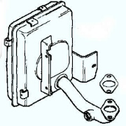 Kohler Muffler - Part No. 12 068 42-S