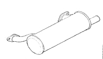 Kohler Muffler - Part No. 24 068 130-S