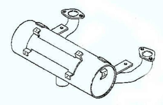 Kohler Muffler - Part No. 24 068 10-S
