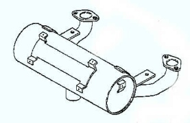 Kohler Muffler - Part No. 24 068 10-S