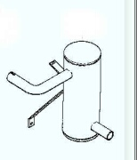 Kohler Muffler - Part No. 24 068 16-S