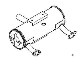 Kohler Muffler - Part No. 24 068 138-S