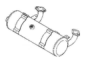 Kohler Muffler - Part No. 24 786 28-S