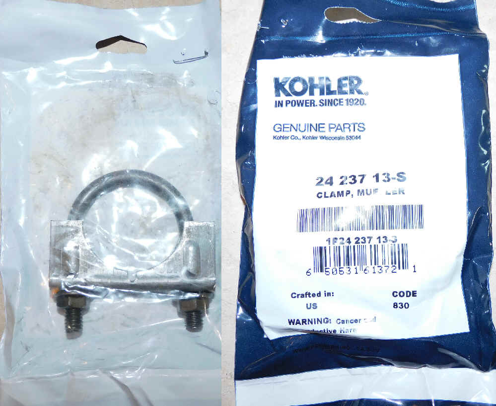Kohler Exhaust Clamp - Part No. 24 237 13-S