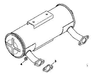 Kohler Muffler - Part No. 24 786 23-S