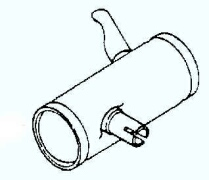 Kohler Muffler - Part No. 45 068 10-S