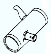 Kohler Muffler - Part No. 47 068 14-S