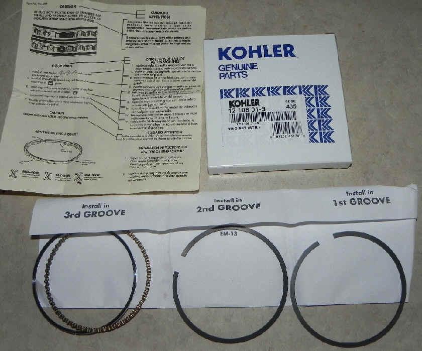 Kohler RING SET (STD.) Part Number 12 108 01-S