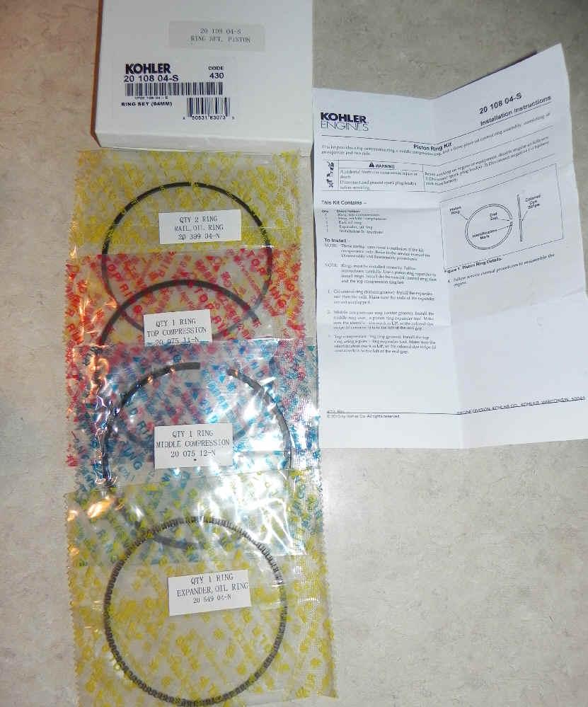 Kohler RING SET (94MM) Part Number 20 108 04-S