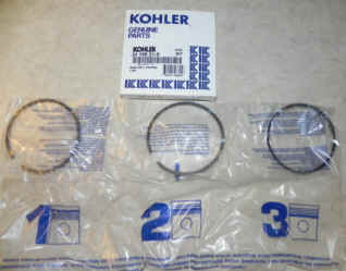 Kohler RING SET PISTON (.50) Part Number 24 108 21-S