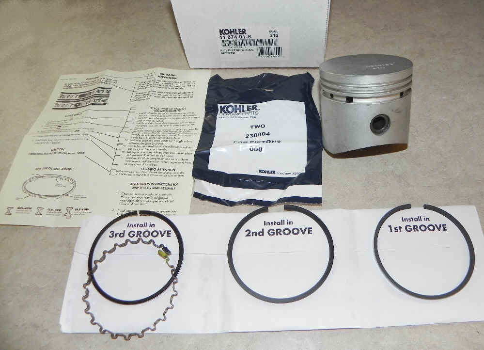 Kohler Piston Assembly - Part No. 41 874 01-S