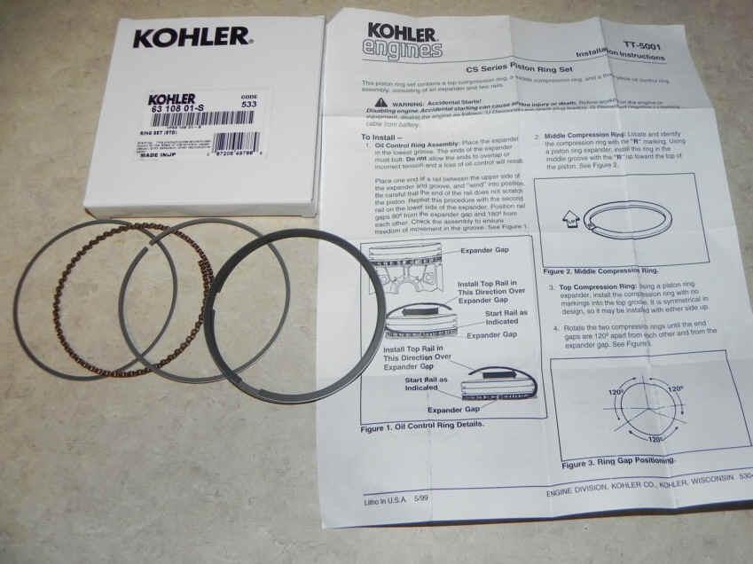 Kohler RING SET (STD) Part Number 63 108 01-S