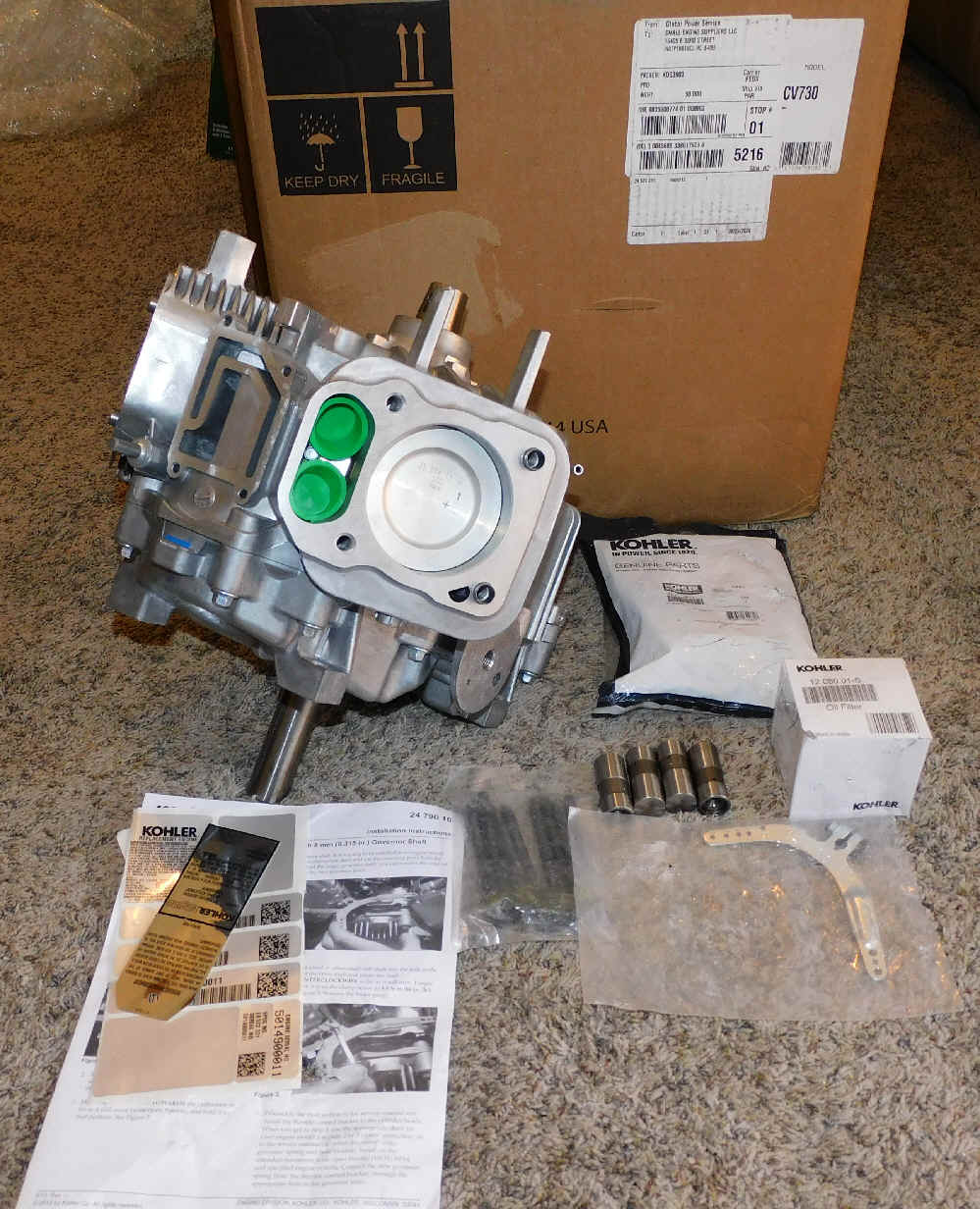 Kohler Vertical Short Block - Part No. 24 522 331