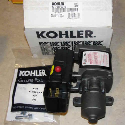 Kohler Electric Starter - Part Number 17 755 03-S