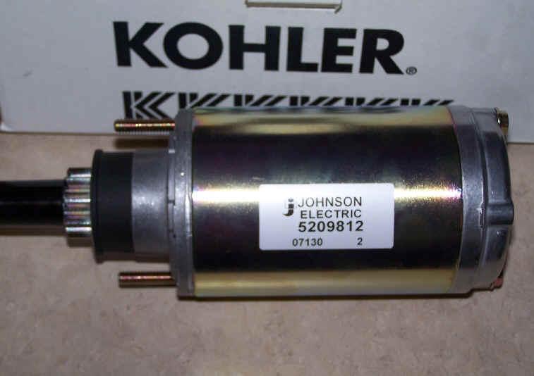 Kohler Electric Starter - Part Number 52 098 12-S