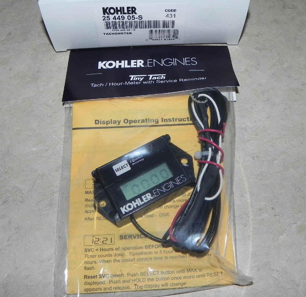 Kohler Usage Meter Tach 25 449 05-S