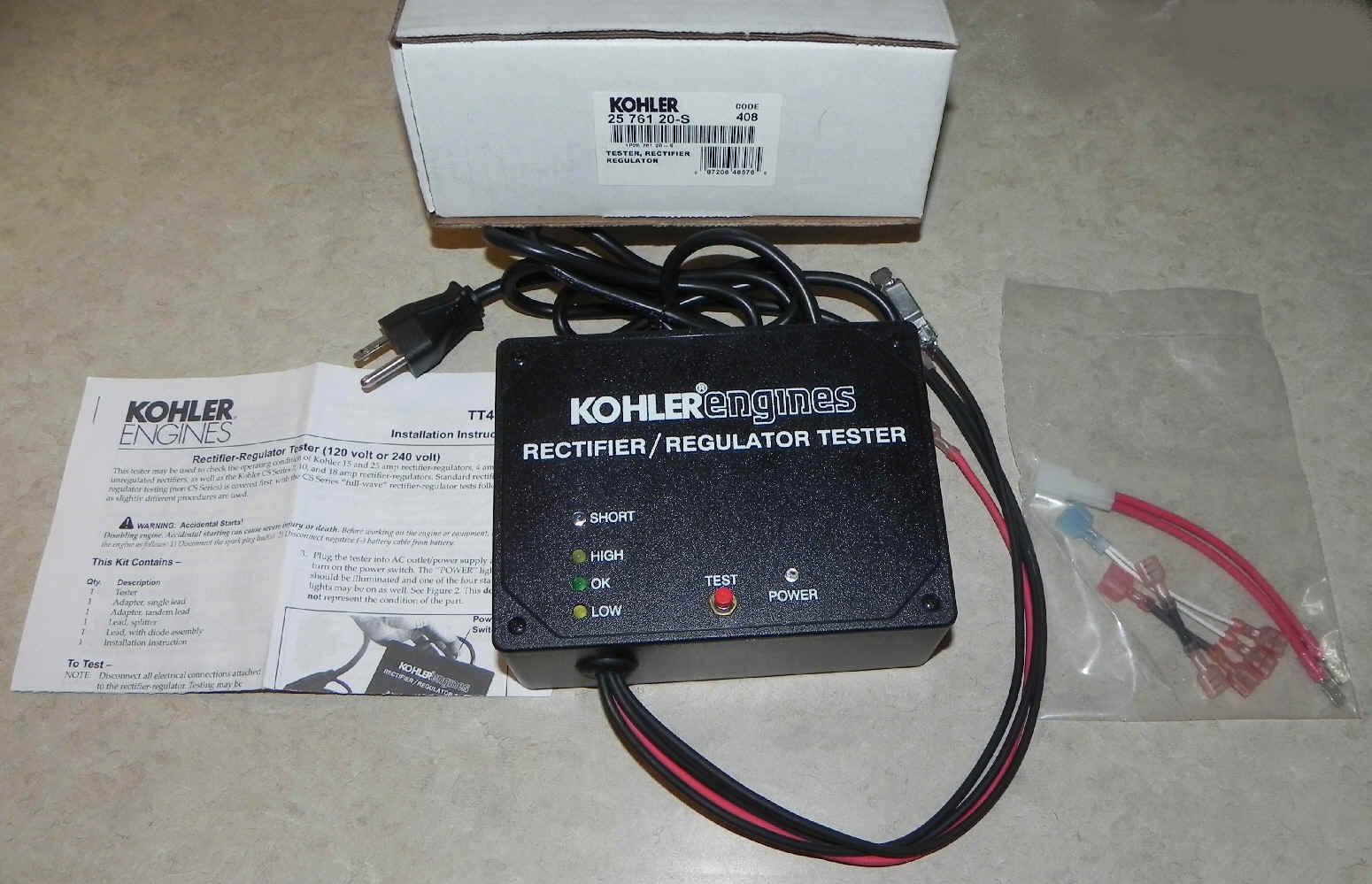 Kohler Rectifier Regulator Tester 25 761 20-S