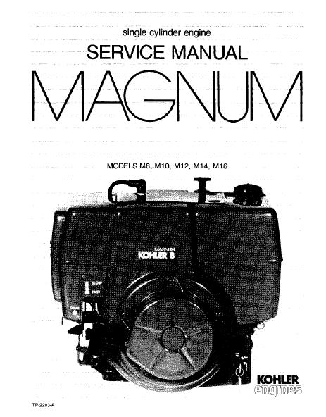 Kohler Service Manual TP-2203-A For M8-16 Engines