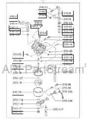 Robin Carburetor Part No. 254-62552-10