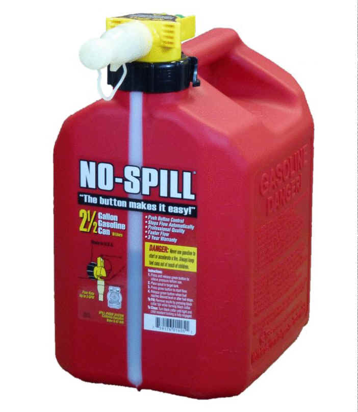 No-Spill 2-1/2 Gallon Gasoline Can 1405