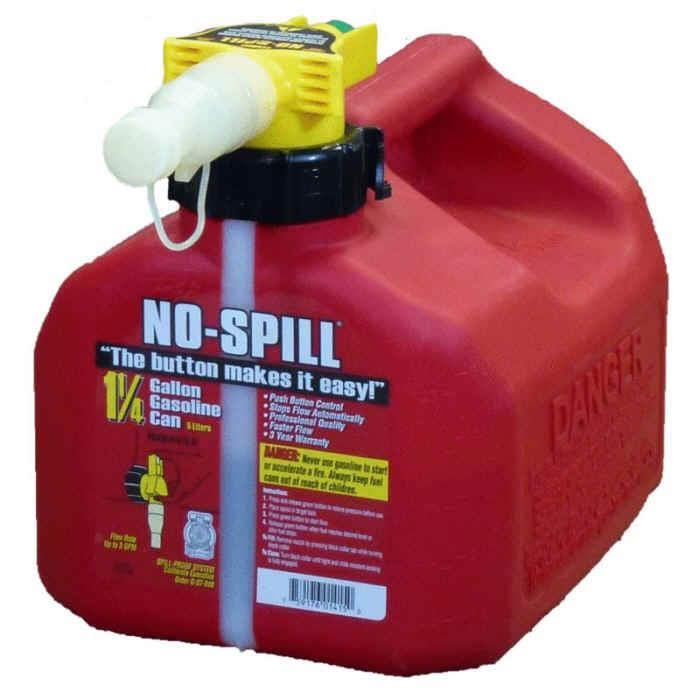 No-Spill 1-1/4 Gallon Gasoline Can 1415