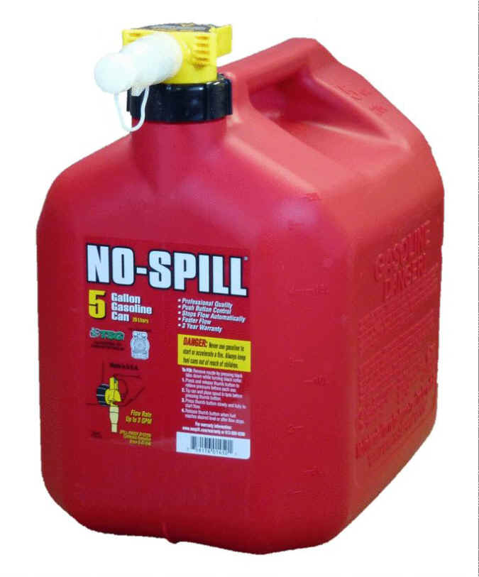 No-Spill 5 Gallon Gasoline Can 1450