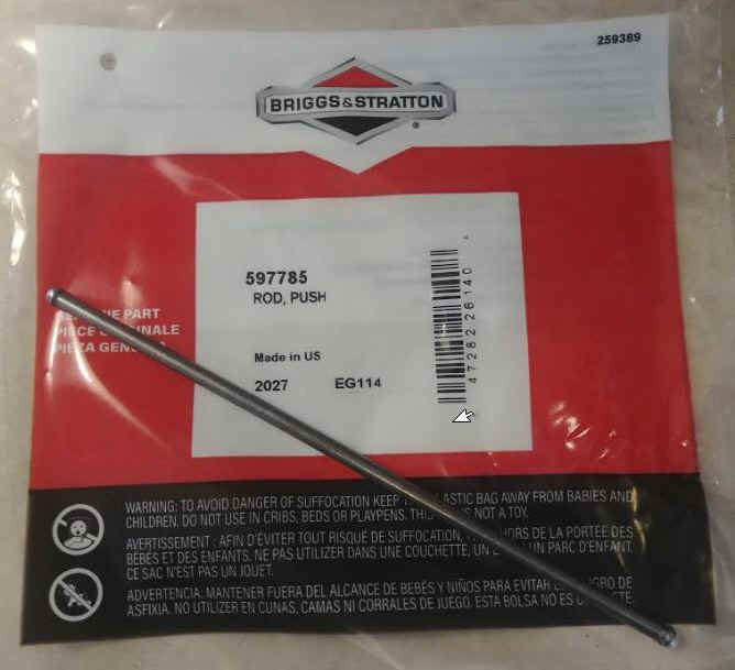 Briggs & Stratton Push Rod 597785