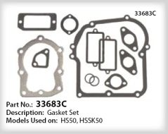 Tecumseh Gasket Set - Part No. 33683C